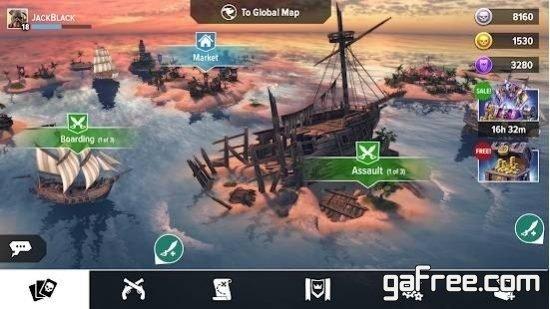 تحميل لعبة القراصنة للاندرويد Pirate Tales: Battle for Treasure