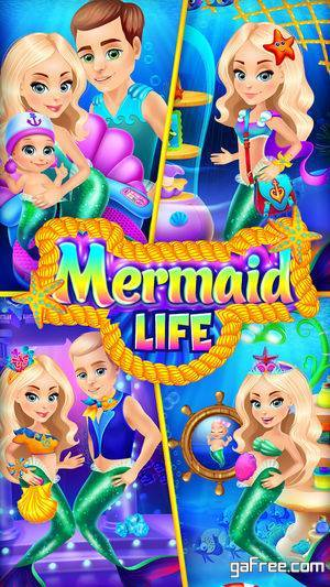 تحميل لعبة حورية البحر للايفون Mermaid Life - Family Story
