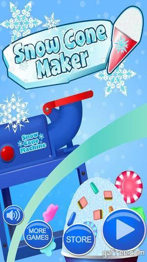 تحميل لعبة صنع الحلويات للايفون Snow Cone Maker - Kids Cooking