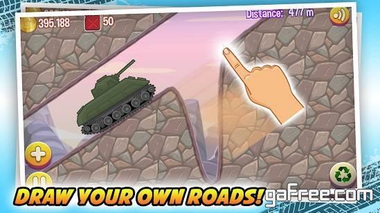 تحميل لعبة رسم المسار السيارات للاندرويد Road Draw