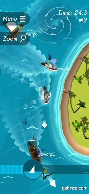 تحميل لعبة قيادة السفينة للايفون Silly Sailing
