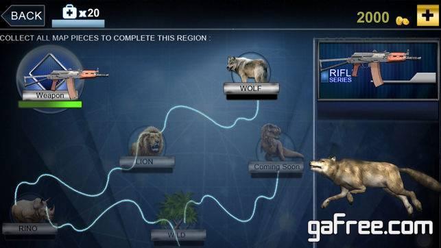 تحميل لعبة الصيد الحيوانات للايفون Wild Animal Hunting simulator