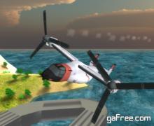 تحميل لعبة قيادة الطائرات الهليكوبتر للايفون Airplane Helicopter Osprey Rescue