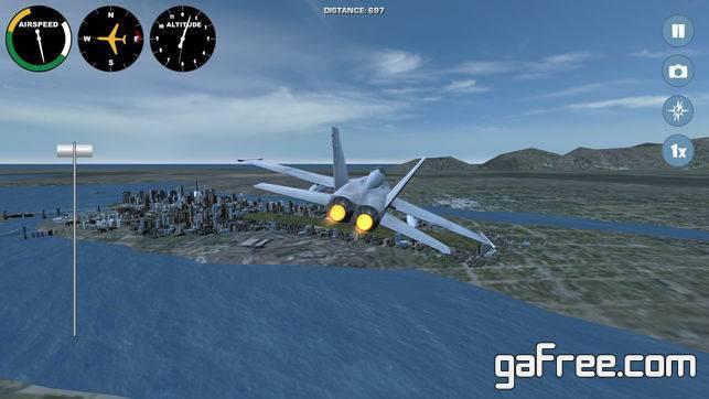 تحميل لعبة محاكاة قيادة الطائرات للايفون Airplane Washington DC