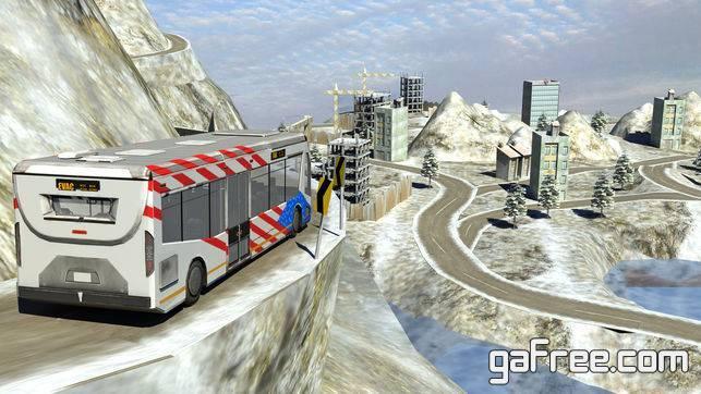 تحميل لعبة القيادة الصعبة للايفون winter Snow hill Bus Driving simulator