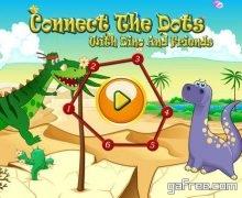 تحميل لعبة تعلم الرسم للايفون Dinosaur Dots Connect for kids