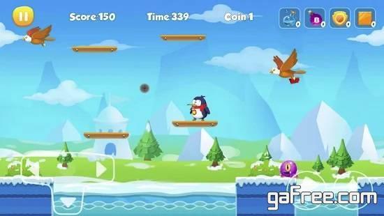 تحميل لعبة مغامرات البطريق للاندرويد Penguin Run