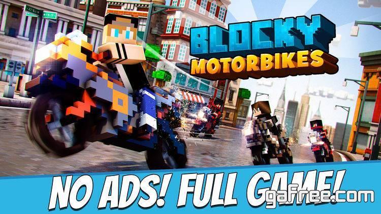 تحميل لعبة الدراجات الجديدة للايفون مجانا Blocky Motorbikes