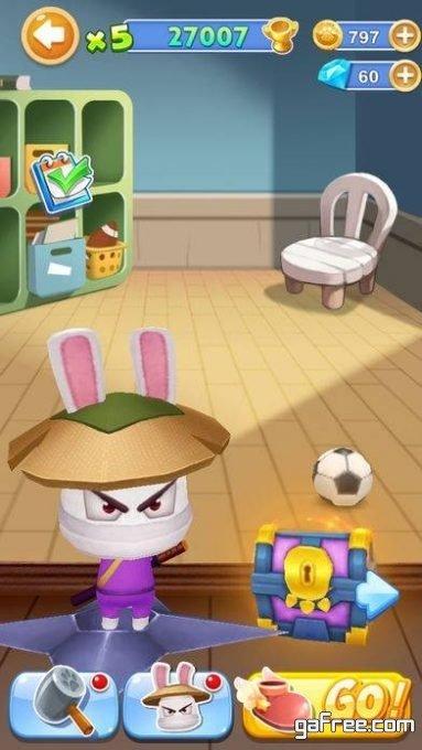 تحميل لعبة النينجا السريع للايفون Run Ninja Rabbit Run
