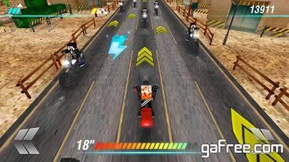 تحميل لعبة الدراجات النارية للايفون مجانا Cube Motorcycle City Roads