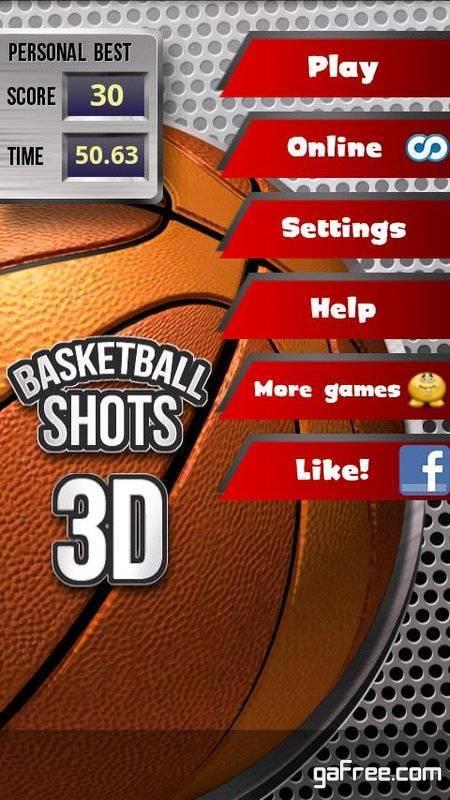 تحميل لعبة باسكت بول للاندرويد Basketball Shots 3D