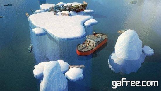 تحميل لعبة قيادة السفينة برابط واحد للايفون 3D Icebreaker Parking