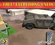 تحميل لعبة الشاحنات العسكرية للايفون Army Humvee 3D Parking Simulator