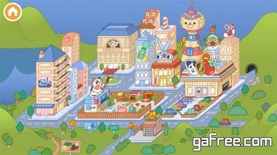 تحميل لعبة الحياة الواقعية للاندرويد Toca Life: City