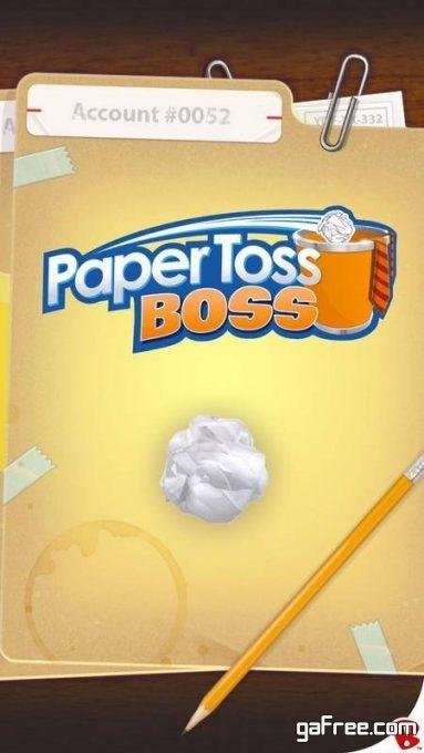 تحميل لعبة رمي الكرة الورقية Paper Toss Boss
