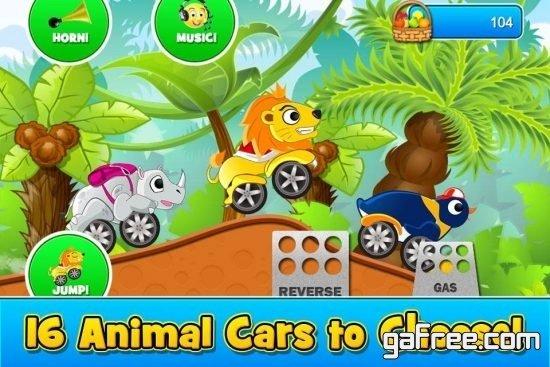 تحميل لعبة سباق الحيوانات للاندرويد Animal Cars Kids Racing Game