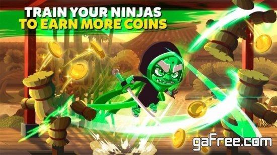 تحميل لعبة مقاتل النينجا الجديدة للاندرويد Ninja Dash - Ronin Shinobi