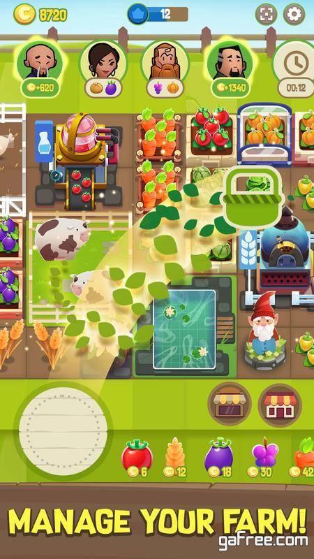 تحميل لعبة المزرعة الجديدة للايفون Merge Farm