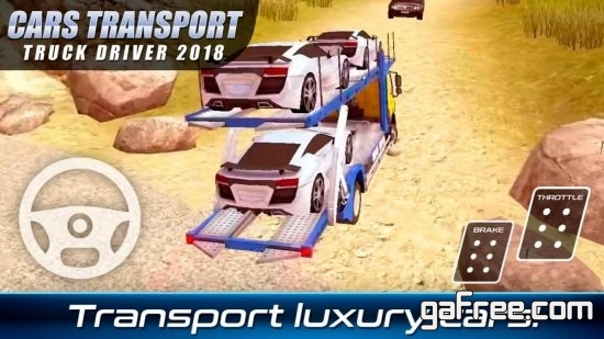 تحميل لعبة شاحنة نقل السيارات الجديدة مجانا Cars Transport Truck Driver
