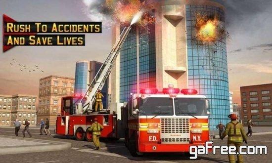 تحميل لعبة قيادة سيارة الاطفاء Fire Truck Driver Emergency