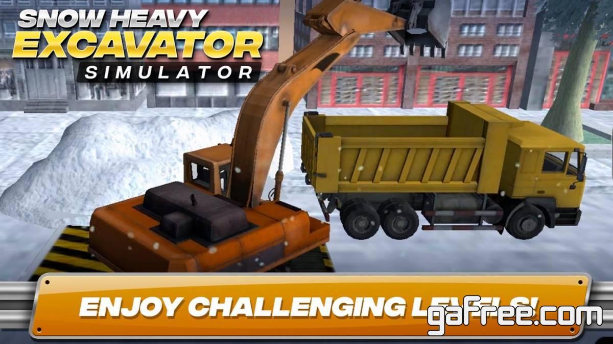 تحميل لعبة مدينة الثلج للاندرويد Snow Heavy Excavator Simulator