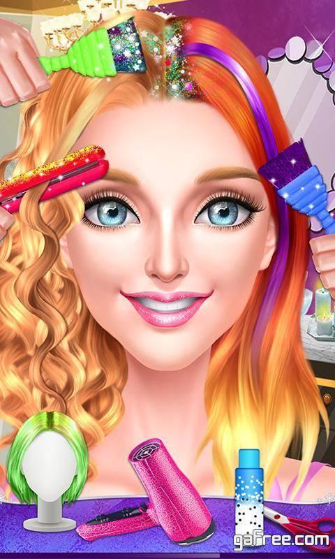 تحميل لعبة تصفيف الشعر للبنات Pop Star Hair Stylist Salon