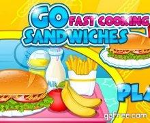 تحميل لعبة مطعم الوجبات السريعة Go Fast Cooking Sandwiches
