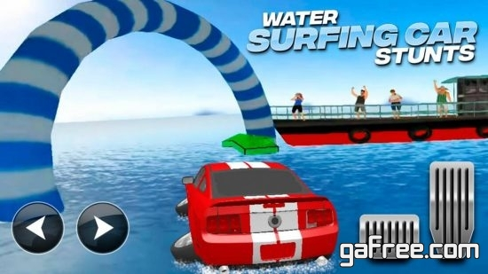 تحميل لعبة السيارة المائية للاندرويد Water Surfing Car Stunts