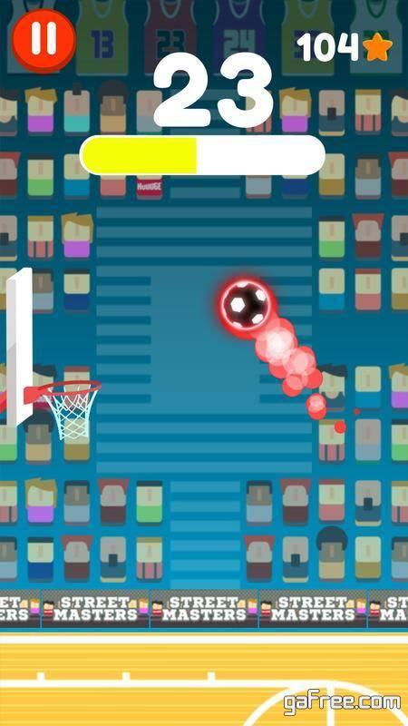 تحميل لعبة باسكت بول للاندرويد Tap Dunk - Basketball