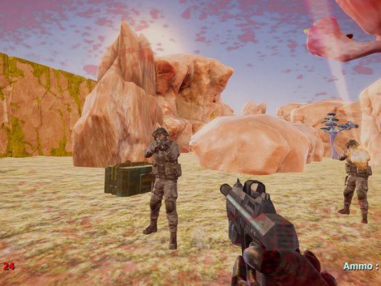 تحميل لعبة الحرب في الفضاء برابط مباشر Hunter On An Alien Planet