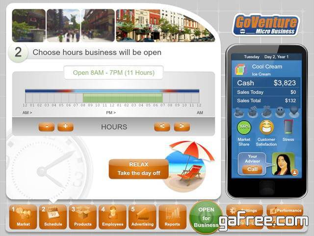 تحميل لعبة رجل الاعمال GoVenture Micro Business