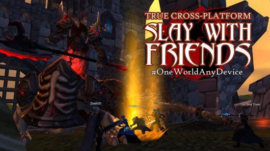 تحميل لعبة جماعية للاندرويد AdventureQuest 3D MMO