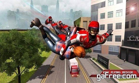 تحميل لعبة البطل الخارق برابط واحد Flying Future Hero Survival