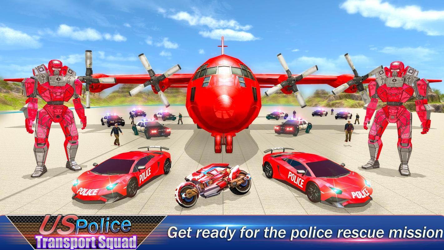 تحميل العاب سيارات ودراجات نارية US Robot Police Transport Squad