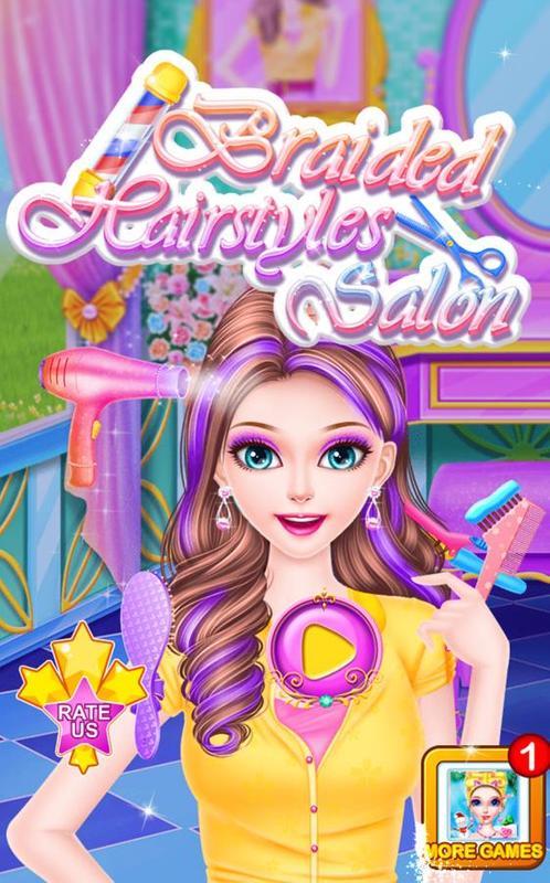 تحميل لعبة تصفيف الشعر للبنات Braided Hairstyles Salon