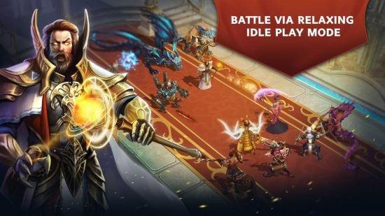 تحميل لعبة فانتازيا قتال واكشن جماعية للاندرويد Trials of Heroes