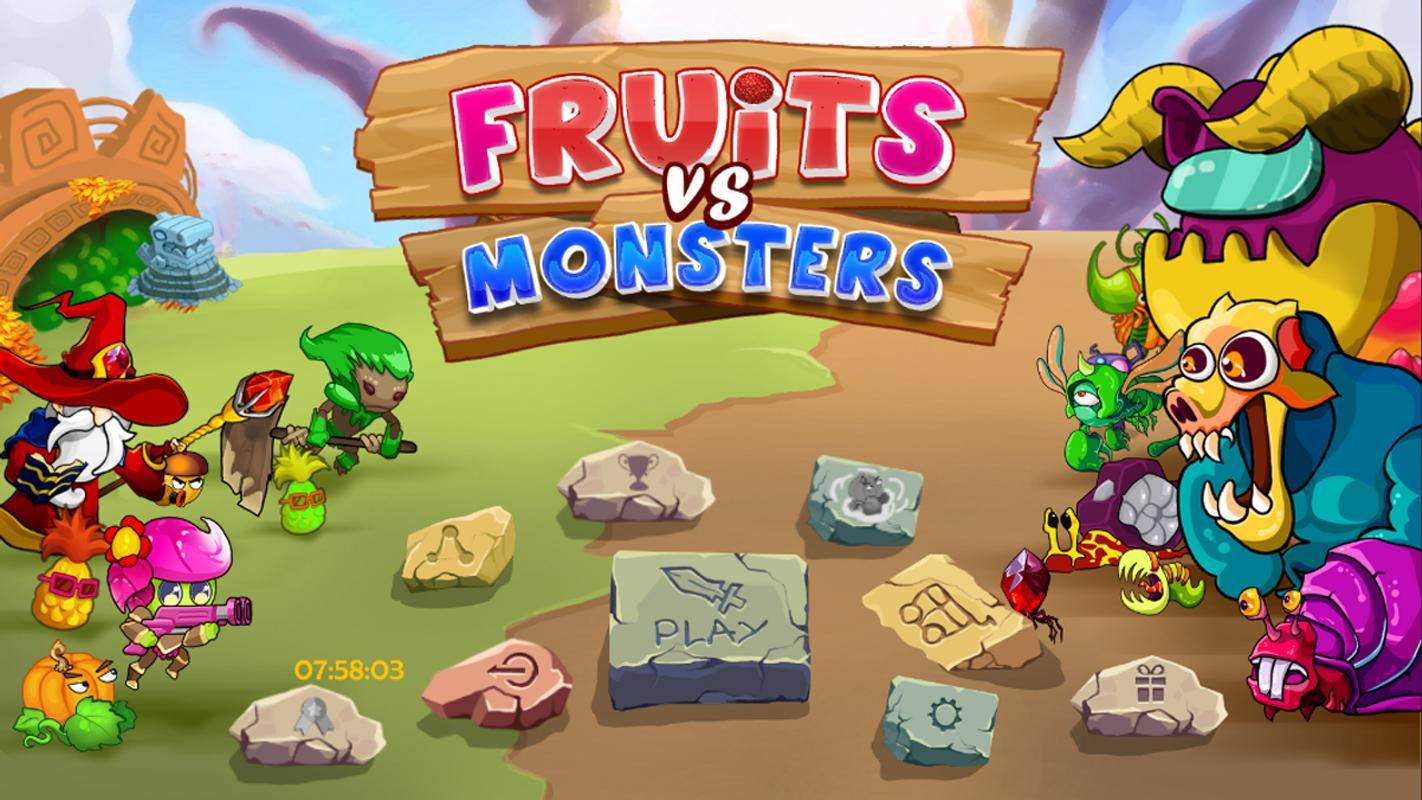 تحميل لعبة الوحوش ضد النباتات Fruit vs. Monster