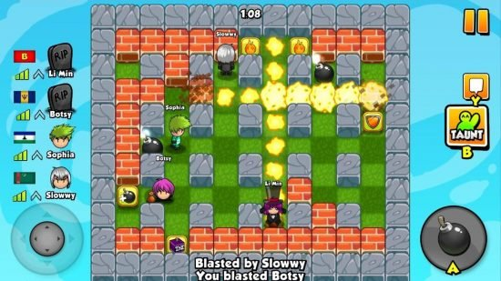تحميل لعبة تفجير القنابل للاندرويد Bomber Friends