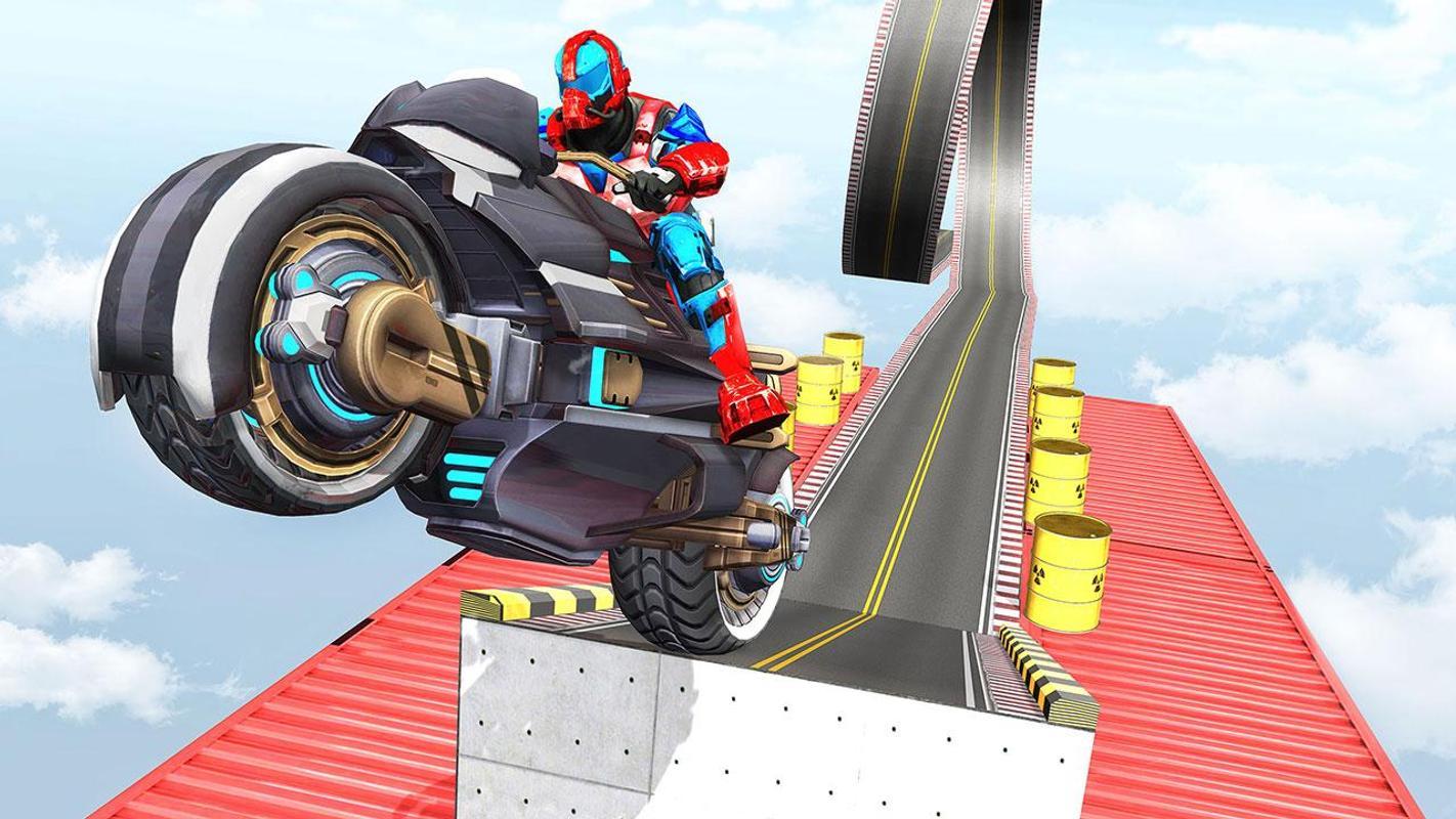 تحميل لعبة الدراجات النارية الجبلية US Police Robot Bike Stunts