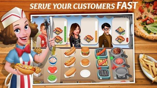 لعبة مطعم الوجبات السريعة للاندرويد Tasty Town