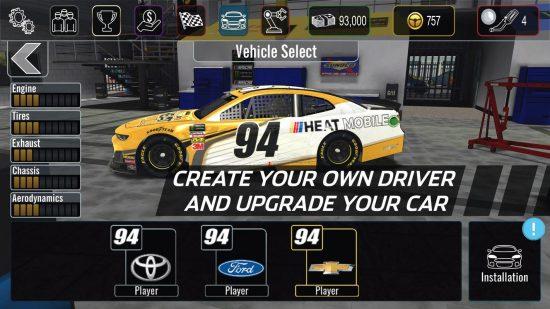 تحميل لعبة سيارات للاندرويد مجانا NASCAR Heat Mobile
