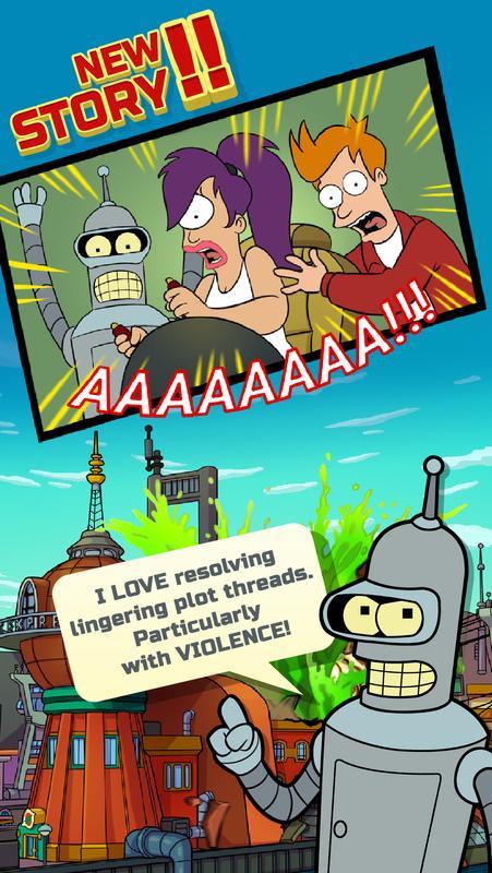 تنزيل لعبة الالغاز الجديدة للاندرويد Futurama