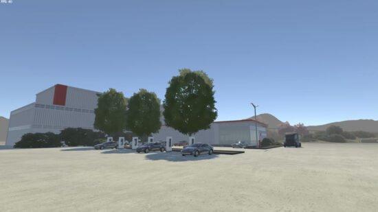 لعبة محاكاة قيادة سيارات تسلا Tesla Motors Simulator 2