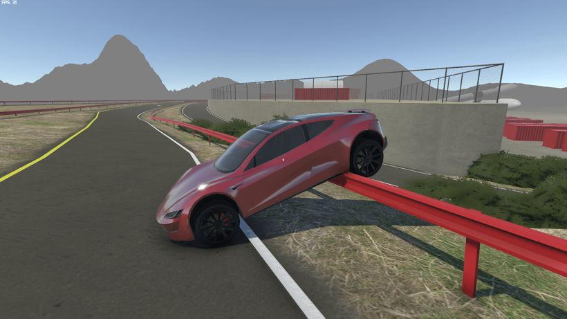لعبة محاكاة قيادة سيارات تسلا Tesla Motors Simulator