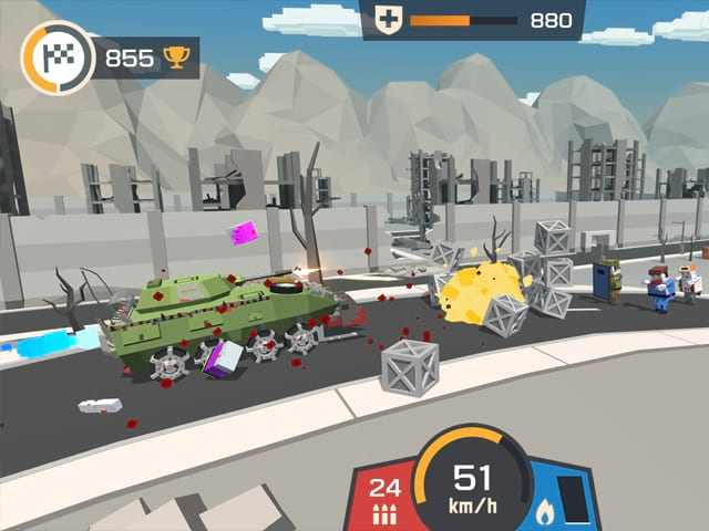 تحميل لعبة الزومبي نهاية العالم Zombie Derby: Pixel Survival