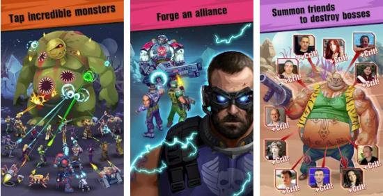 لعبة القتال بالاسلحة Сlicker idle game: Evolution Heroes