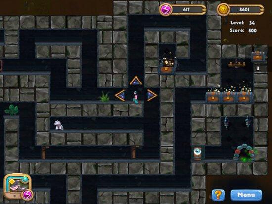 لعبة مغامرات البحث عن الكنز Caves and Castles: Underworld 2