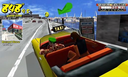 لعبة سيارة الاجرة مجانا Crazy Taxi Classic 2