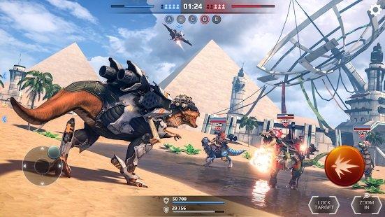 لعبة قتال الديناصورات للاندرويد Jurassic Monster World 2