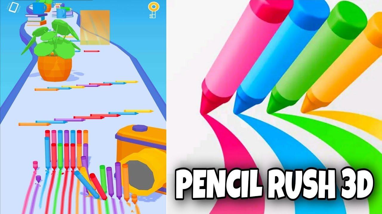لعبة الاقلام الملونة Pencil Rush 3D تحميل مجاني اخر اصدار
